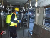 المترو يواصل تعقيم وتطهير قطارات ومحطاته ضد كورونا