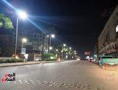جانب من حظر التجوال بشارع الهرم