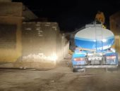 تطهير شوارع مناطق مطروح المختلفة ليلا