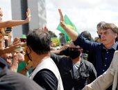 الرئيس البرازيلى بولسونارو يحتفى بمؤيديه