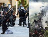 المظاهرات فى أمريكا