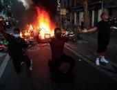 مظاهرات فى فرنسا احتجاجا على وفاة جورج فلويد