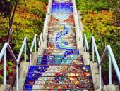 الدرج  القوموزى بشارع 16 فى كاليفورنيا