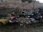 انتشار القمامة امام مستشفى قرية برشا