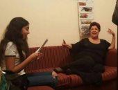 الفنانة الراحلة رجاء الجداوي مع حفيدتها