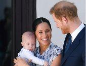 الأمير هارى وميجان ماركل وابنهما آرتشى