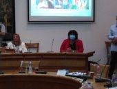 الدكتورة إيناس عبد الدايم خلال ندوة التنمير بالأعلى للثقافة