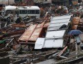 آثار فيضانات اليابان