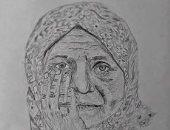 رسم القارئ أحمد فرج الله