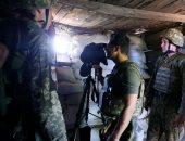 الرئيس الأوكرانى داخل مخبأ على خطوط المواجهة مع الانفصاليين