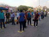 تزايد كبير في اعداد الناخبين بمدرسة سيزا نبراوي بالتجمع الخامس