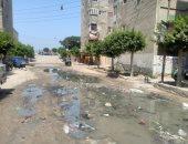 مياه الصرف الصحى تحاصر حى الزهور  بأ بوحماد شرقية
