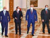 الرئيس السيسى يستقبل عقيلة صالح والمشير خليفة حفتر بحضور اللواء عباس كامل رئيس المخابرات العامة