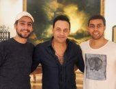مصطفى قمر مع إياد وتيام