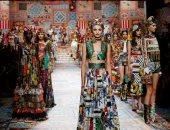 مجموعة دولتشى آند جابانا بأسبوع الموضة فى ميلانو