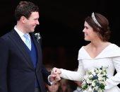الأميرة يوجينى وزوجها جاك من حفل زفافهما