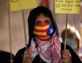 المتظاهرون فى كتالونيا