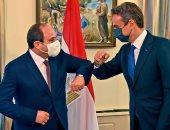الرئيس عبد الفتاح السيسي ورئيس الوزراء اليوناني كيرياكوس ميتسوتاكيس