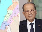 عون ونتيناهو وخريطة لبنان