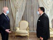 سفير مصر لدى تونس والرئيس التونسى قيس سعيد
