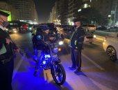 جانب من الحملة المرورية بمصر الجديدة