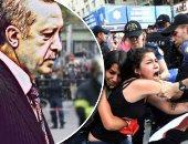 مظاهرات - رجب طيب اردوغان
