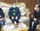 محافظ المنوفية يستقبل وزير الشباب والرياضة فى مكتبه