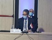 خالد العناني خلال الاجتماع