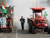 مسيرة بالجرارات فى الهند