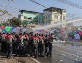 مظاهرات ضد الانقلاب العسكري في ميانمار