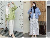 تنسيق  الكمامة مع الحجاب