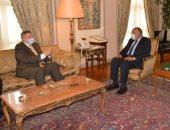وزير الخارجية سامح شكرى يستقبل المبعوث الأممى لدى ليبيا يان كوبيتش