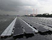 مزرعة طاقة شمسية عائمة في البحر