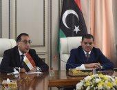 الدكتور مصطفى مدبولى رئيس مجلس الوزراء ونظيره الليبى عبد الحميد الدبيبة