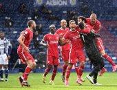 احتفال لاعبى ليفربول