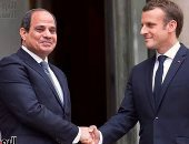 الرئيس عبد الفتاح السيسى و الرئيس الفرنسى إيمانويل ماكرون