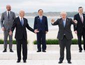 قادة مجموعة السبع يقفون للترحيب الرسمي