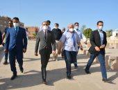 جولة نائب محافظ سوهاج والمتدربين بمنطقة أبيدوس الاثرية