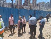 رئيس شركة مياه الاسكندرية بمكان كسر ماسورة المياة