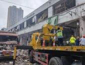 موقع الانفجار فى مدينة شيان بالصين