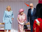 الرئيس الأمريكى وحرمه مع الملكة إليزابيث الثانية