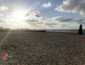 الغروب على شاطئ بورسعيد