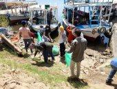 تنظيف النيل من البلاستيك