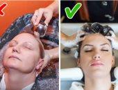 تدليك الرأس أثناء غسل الشعر