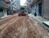 جانب من رصف الشوارع