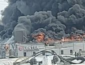 حريق ضخم شب فى محطة كهرباء ميناء بندر عباس