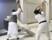 اعتداء داعش على متحف الموصل بالعراق