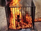 جانب من حرق الطيار الأردنى معاذ الكساسبة