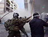 اشتباكات بين الشرطة ومواطنين باليونان- صورة أرشيفية