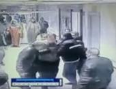 مشهد من الاعتداء على المستشفى